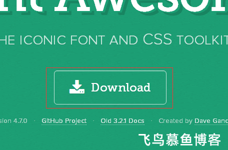 Font Awesome图标字体下载以及使用方法