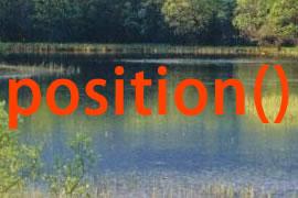 jQuery中position()方法的使用