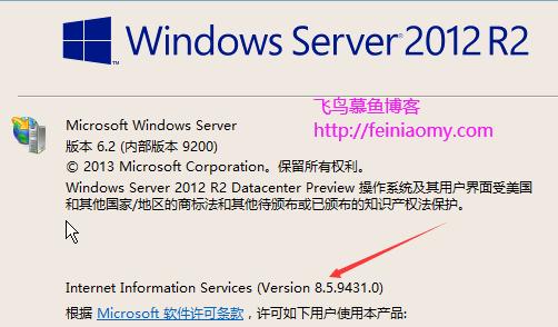windows下查看IIS版本号的方法