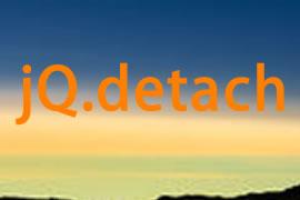 jQuery删除指定的元素detach()