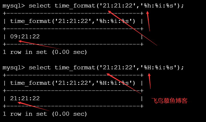 mysql time_format() 函数介绍