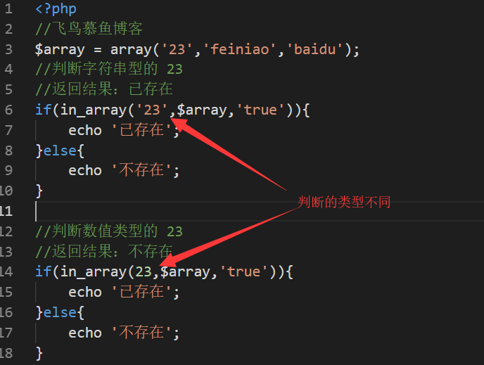 PHP in_array()函数,PHP in_array() 用法