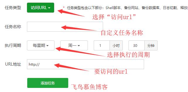 宝塔面板计划任务访问URL