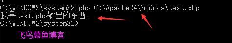 cmd php 执行文件php文件