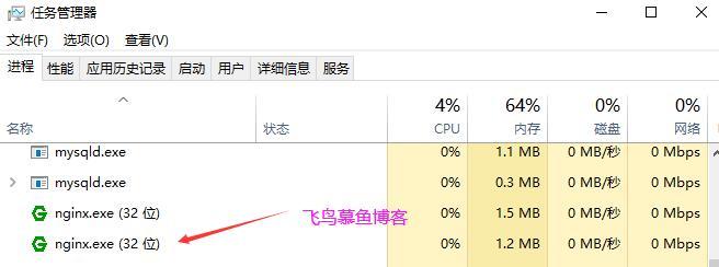 nginx windows 进程