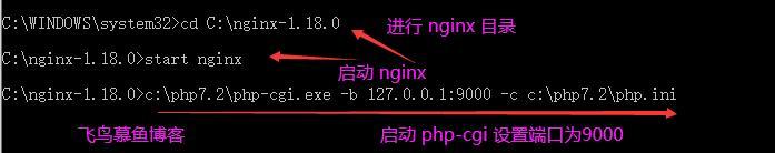 启动 nginx php-cgi